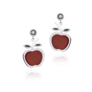 Pendientes manzana