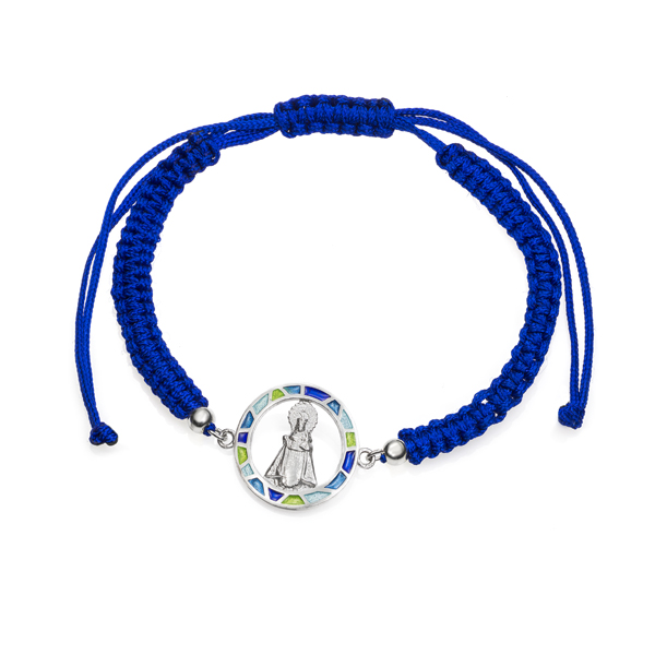 Pulsera virgen de Covadonga azul pequeña